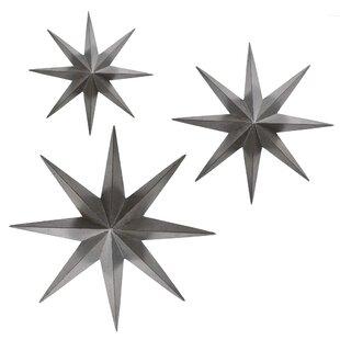 3 Piece Metal Stars Wall Décor Set