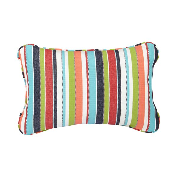 Corded Colorful Outdoor Sunbrella Lumbar Pillow (Set of 2) by Mozaic Company