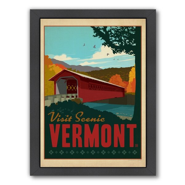 Vermont Framed Vintage Advertisement by East Urban Home