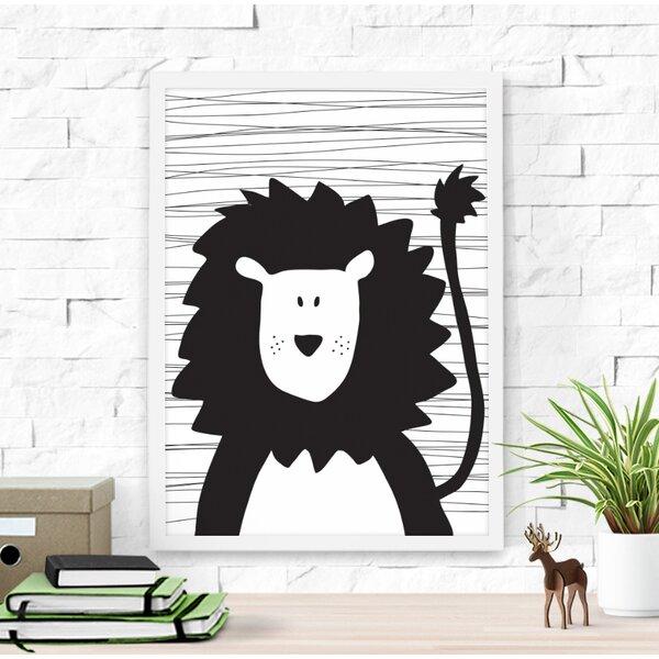 Cute Lion Framed Art by Dilemma Posters