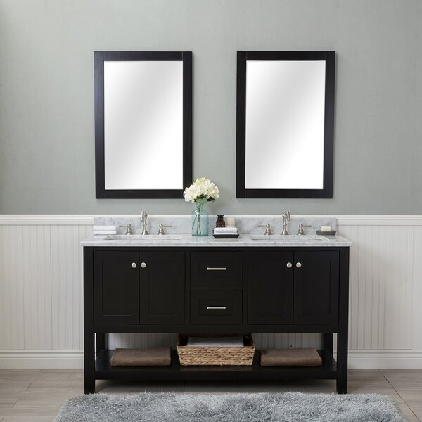 Shae 60 Double Bathroom Vanity Set with Mirror by Darby Home Co
