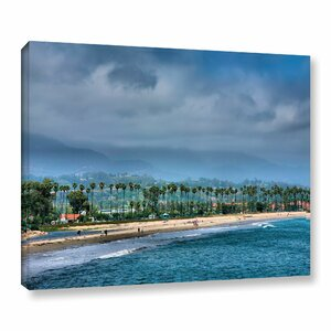The Beach At Santa Barbara by Steve Ainsworth Photographic Print on Wrapped Canvas by ArtWall