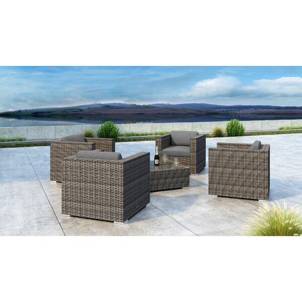 Gilleland 5 Piece Sofa Set with Sunbrella Cushion by Orren Ellis