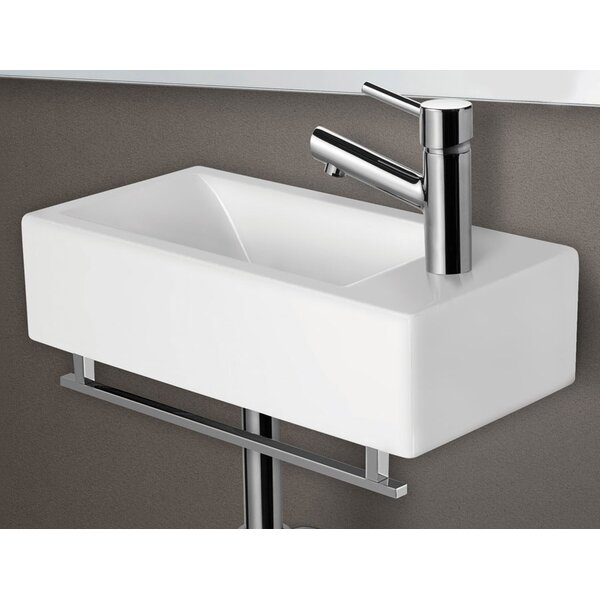 Ceramic 19 Wall Mount Bathroom Sink with Overflow by Alfi Brand