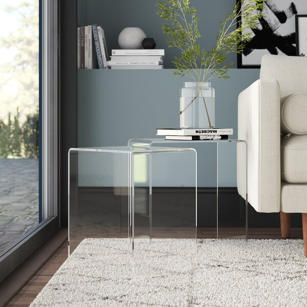 Channing 2 Piece Sled Nesting Tables By Mercury Row