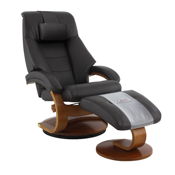 On Sale Flathead Lake Lounge Leather Manual Recliner With Ottoman