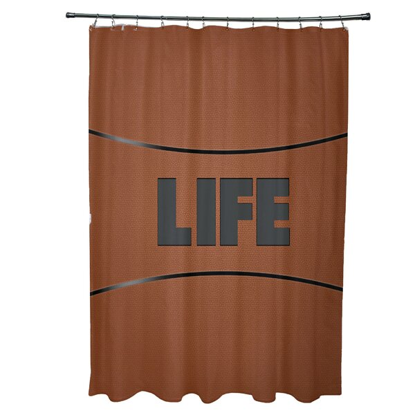 Bauer Life Word Shower Curtain by Zoomie Kids