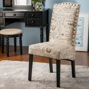 Script Upholstered Dining Chair (Set of 2) & French Script Dining Chair | Wayfair.ca