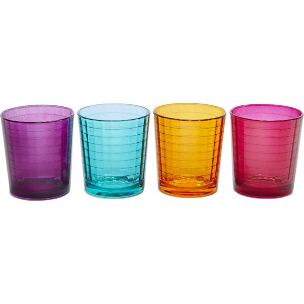 Windowpane with Style 13 oz. Double Old Fashioned Glass (Set of 4) by Circle Glass