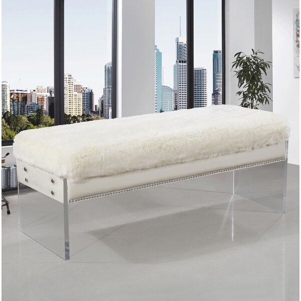 Roberts Upholstered Bench by Everly Quinn