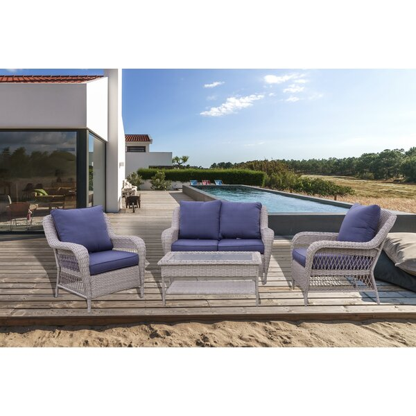 Lodewijk Portland 4 Piece Sofa Seating Group with Cushions by Charlton Home