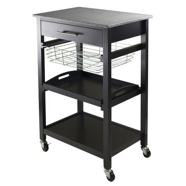 Julia Kitchen Cart with Granite Top by Winsome