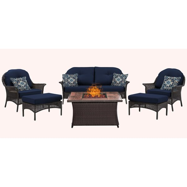 Kinnison 6 Piece Sofa Set with Cushions by Bayou Breeze