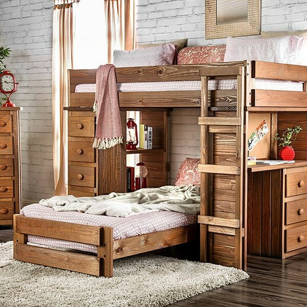 Secor Twin over Twin L Bunk Bed with Drawers by Harriet Bee