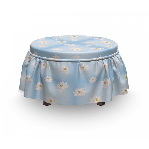 Cartoon Water Lily Ottoman Slipcover (Set Of 2) By East Urban Home