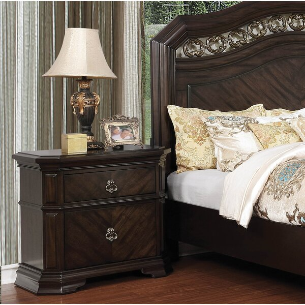 Rudisill 3 Drawer Nightstand by Astoria Grand