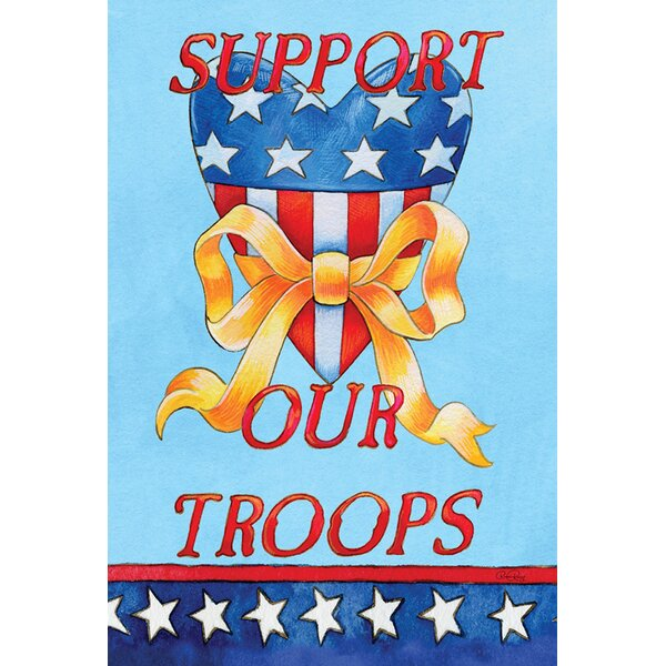 Support Our Troops 2-Sided Garden flag by Toland Home Garden