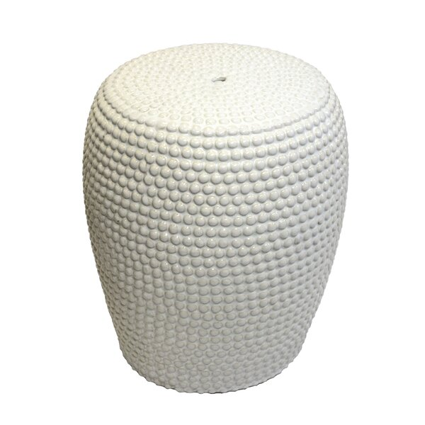 Dollison Bead Texture Ceramic Garden Stool by Bungalow Rose