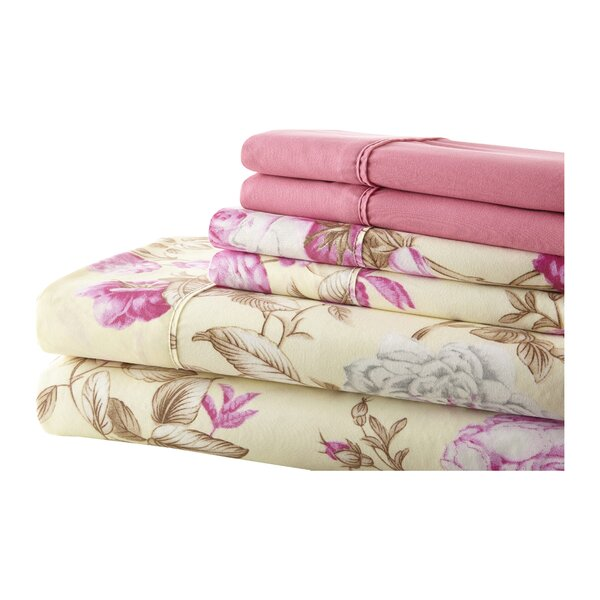 Hyacinthe Sheet Set in Pink by August Grove