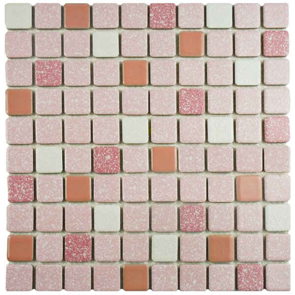 Minerva 1.1 x 1.1 Porcelain Mosaic Tile in Pink by EliteTile