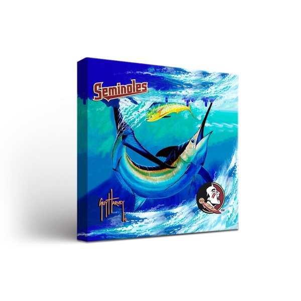 NCAA Guy Harvey Framed Graphic Art on Wrapped Canvas by Victory Tailgate