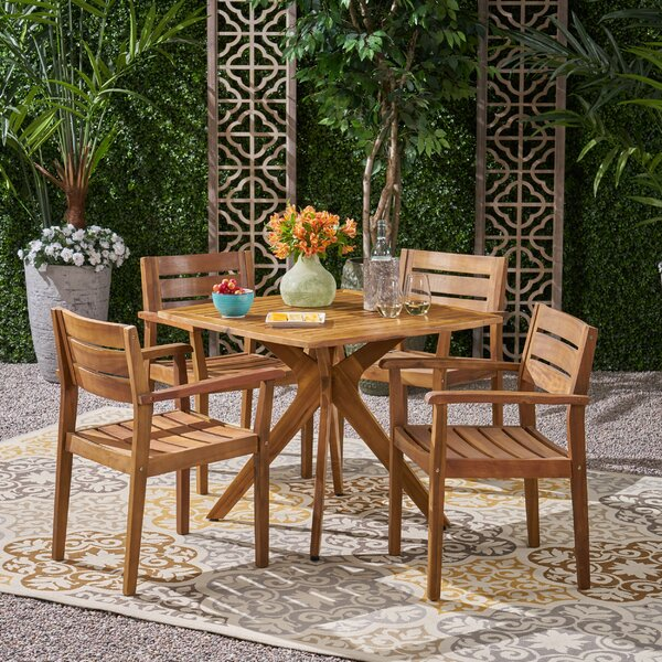 Chloé 5 Piece Dining Set by Wrought Studio
