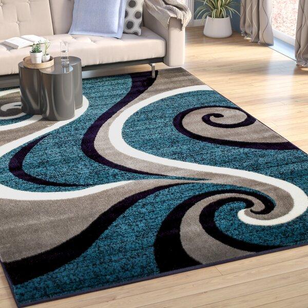 Rick Blue Area Rug by Zipcode Design