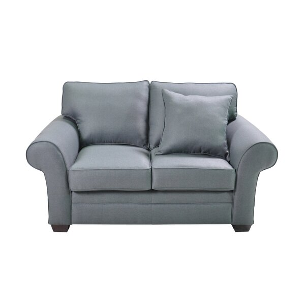 Huggard Stationary Loveseat by Charlton Home