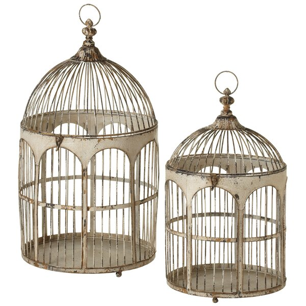 Skillings Distressed Round Top Arch 2 Piece Cage Set by August Grove
