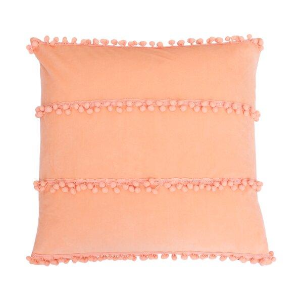Rahma Pom Pom Throw Pillow by Bungalow Rose