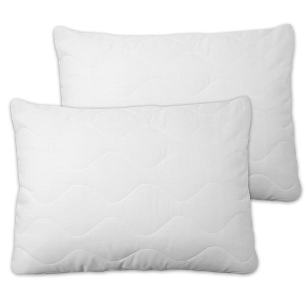 Extra Plush Quilted Pillow Protector with Zipper (Set of 2) by Sweet Home Collection