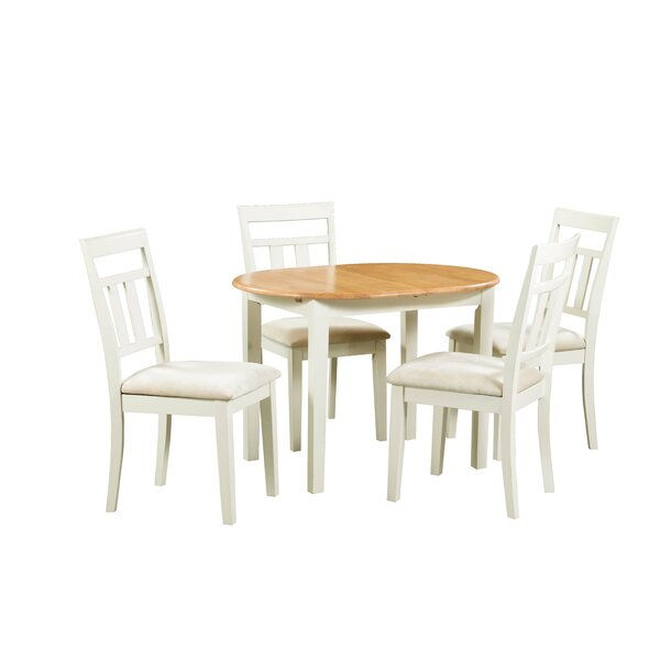 Shippy 5 Piece Extendable Solid Wood Dining Set by August Grove August Grove