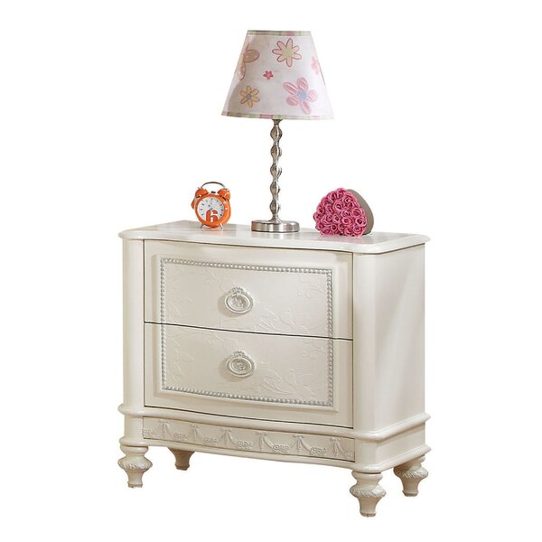 Dublin Floral Carved Trim 2 Drawer Nightstand By House Of Hampton