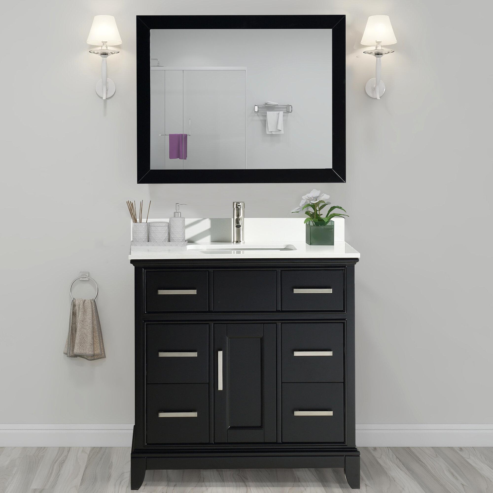 Valor 36 Single Bathroom Vanity Set With Mirror Reviews Joss