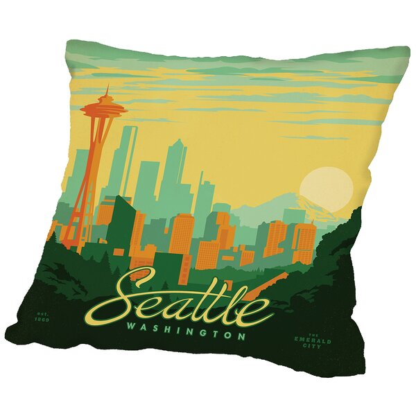 Seattle Throw Pillow by East Urban Home