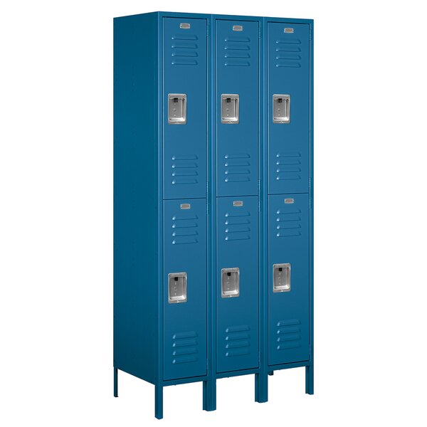 2 Tier 3 Wide Employee Locker by Salsbury Industries
