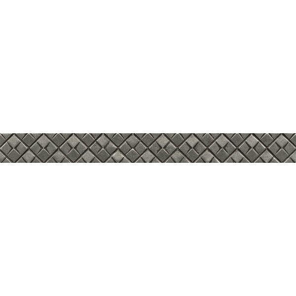 Ambiance Matrix City Liner 1-1/4 x 12 Resin Tile in Pewter by Bedrosians
