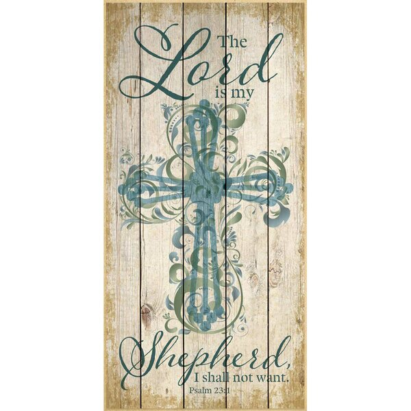 The Lord Is My Shepherd… Graphic Art Plaque by Dexsa