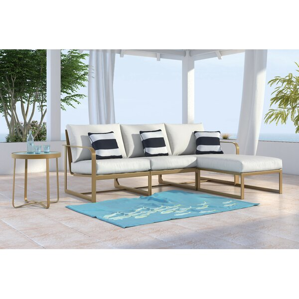 Mirabelle Patio Sectional with Cushions by Elle Decor