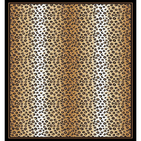 Kaly Ebony Area Rug by World Menagerie
