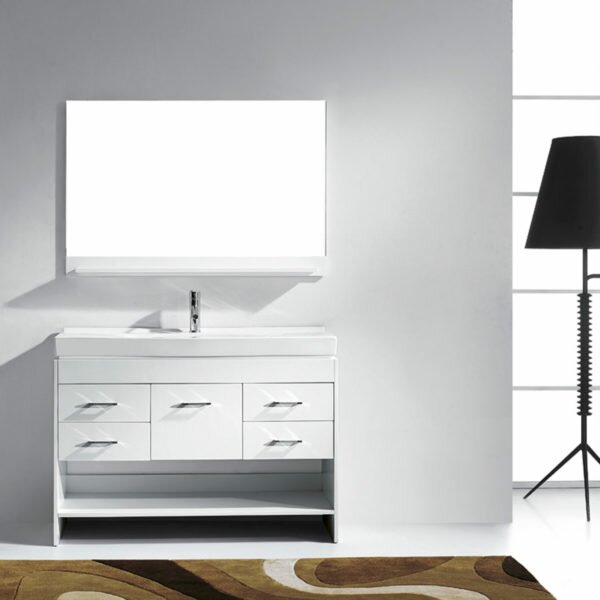 Carstens 47 Single Bathroom Vanity Set with Mirror by Mercury Row
