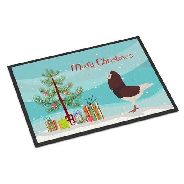 Princeton Capuchin Pigeon Christmas Non-Slip Outdoor Door Mat