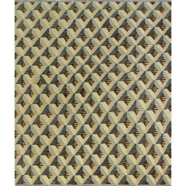 One-of-a-Kind Pendergast Hand-Woven Wool Beige/Brown Area Rug by Orren Ellis