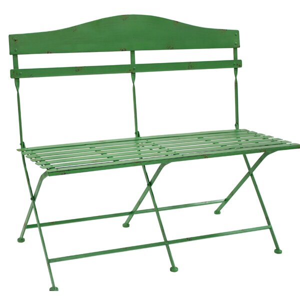 Trull Slotted Bench Metal Garden Bench by Ophelia & Co.