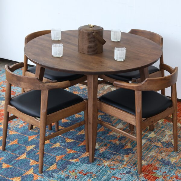 Burgan Solid Wood Dining Table by Union Rustic