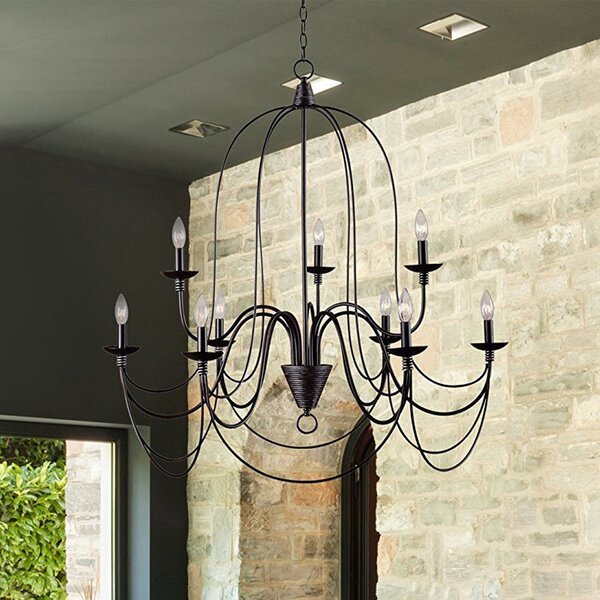 Vahe 9-Light Candle Style Tiered Chandelier by 17 Stories 17 Stories