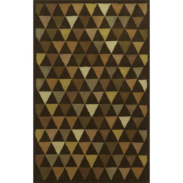 Patras Hand-Tufted Brown Area Rug by Meridian Rugmakers