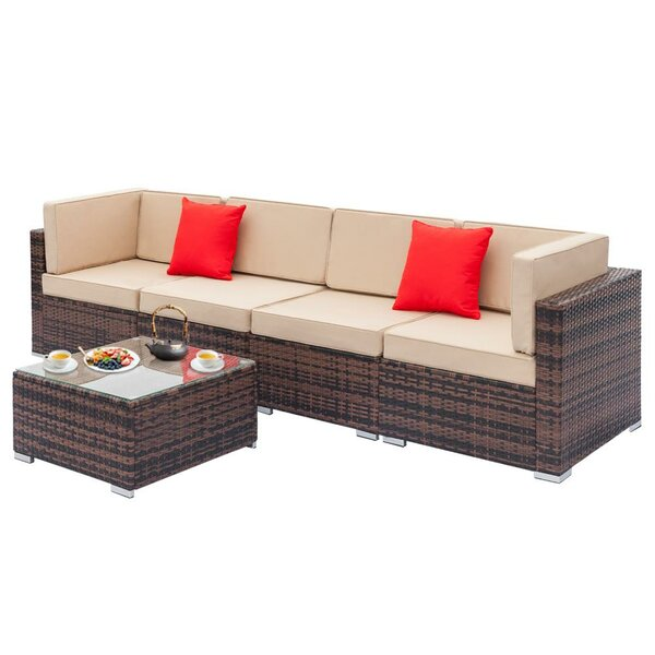Fielder Sectional Seating Group with Cushions by Bay Isle Home Bay Isle Home