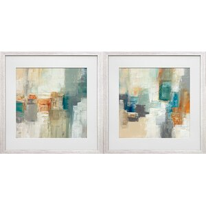 'Piquant I and II' by Cat Tesla 2 Piece Framed Acrylic Painting Print Set by Star Creations
