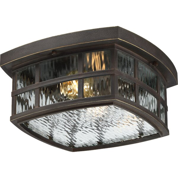 Cayman 2-Light Outdoor Flush Mount by Sol 72 Outdoor